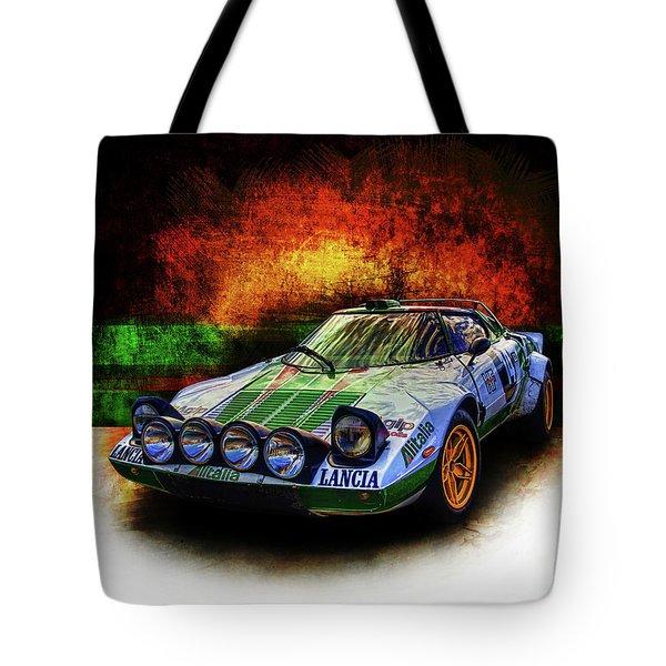 Alitalia Lancia Stratos Hf Tote Bag