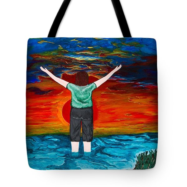 Tote Bag featuring the painting Alive by Cheryl Bailey