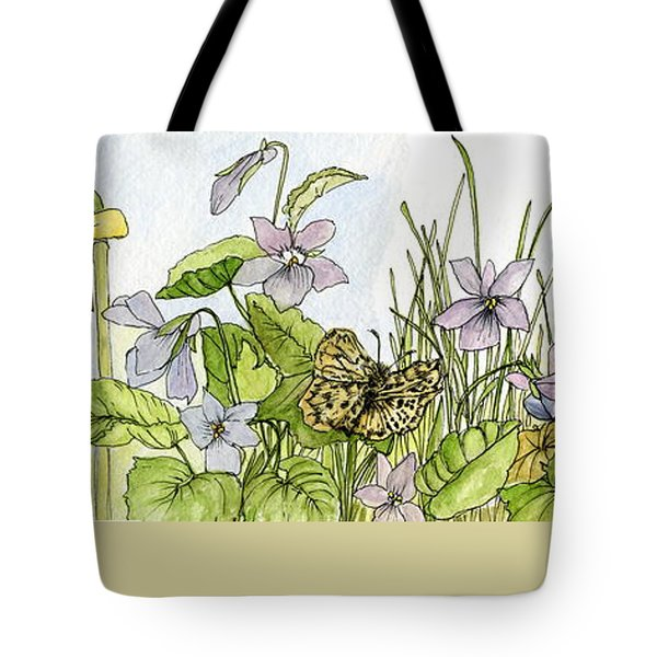 Tote Bag featuring the painting  Alive In A Spring Garden by Laurie Rohner