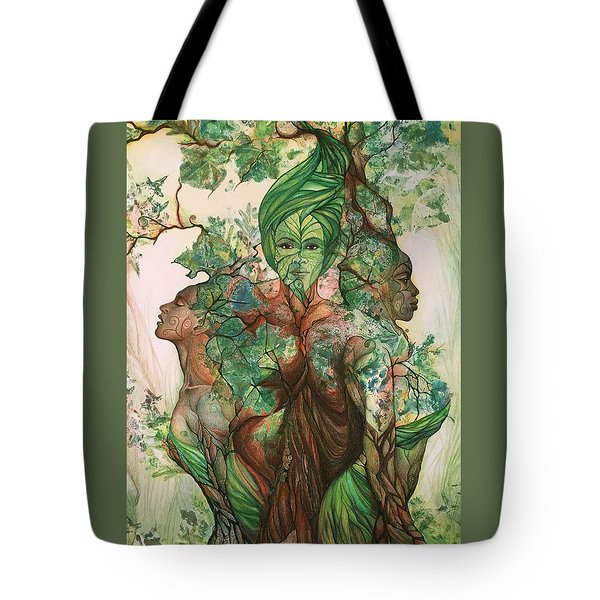 Alive Tree Tote Bag