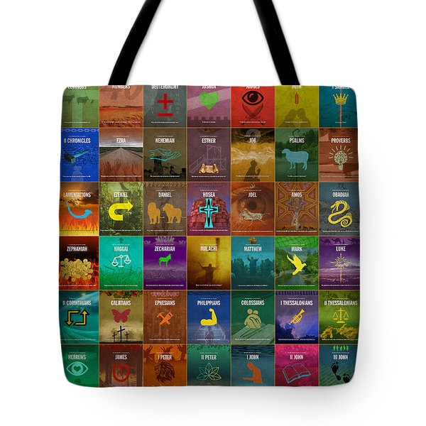 All 66 Books Of The Bible Old And New Testament Minimalist Graphic Design Tote Bag