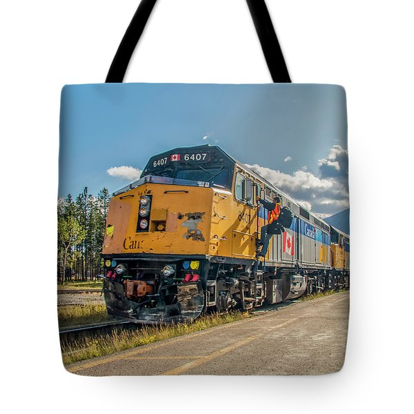 Tote Bag featuring the photograph All Aboard 2009 by Jim Dollar