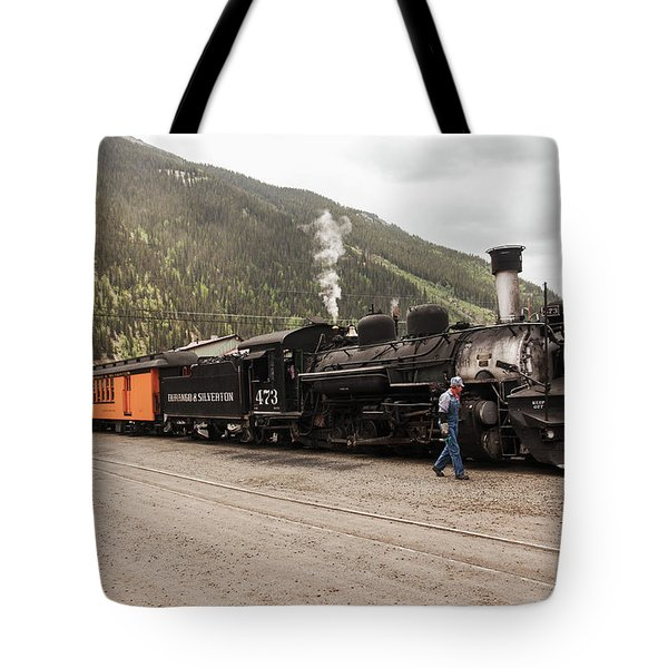 Tote Bag featuring the photograph All Aboard To Durango by Lon Dittrick