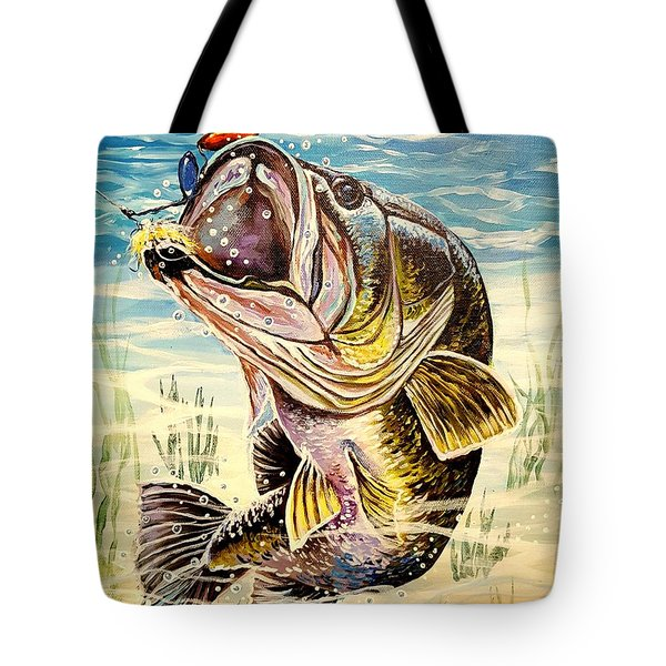 All About The Bass Tote Bag by Sandra Lett