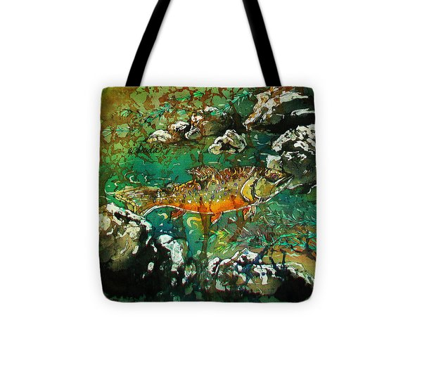 All About Trout Tote Bag by Sue Duda