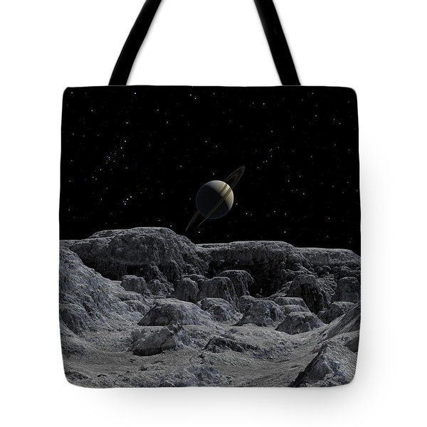 Tote Bag featuring the digital art All Alone by David Robinson