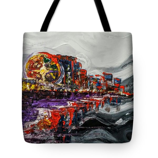 Tote Bag featuring the painting All Along The Grand Strand by Jennifer Hotai
