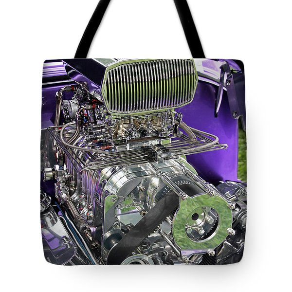 All Chromed Engine With Blower Tote Bag