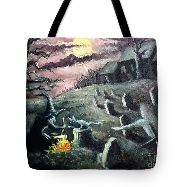 All Hallow's Eve Tote Bag by Randy Burns