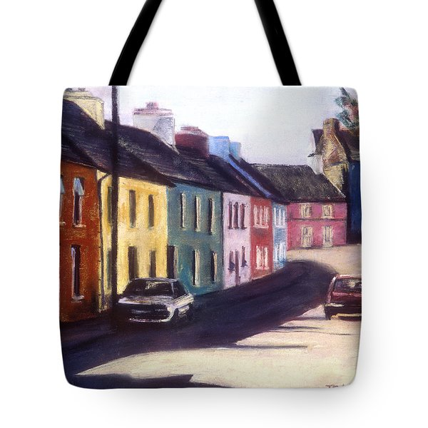 Tote Bag featuring the painting All In A Row by Julie Maas