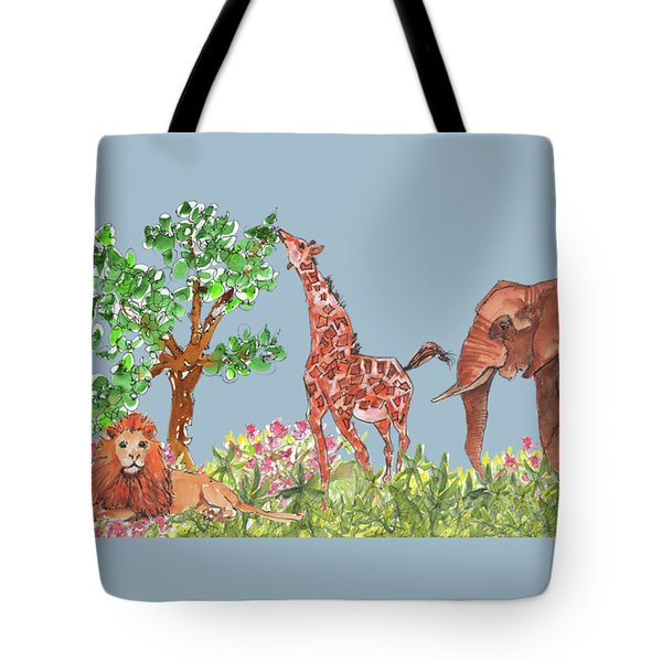 All Is Well In The Jungle Tote Bag