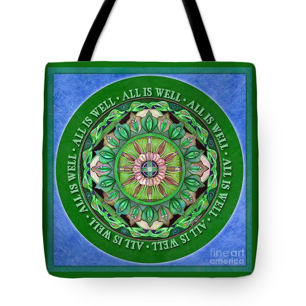 All Is Well Mandala Prayer Tote Bag