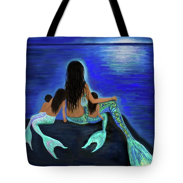 Tote Bag featuring the painting All My Adorable Girls by Leslie Allen
