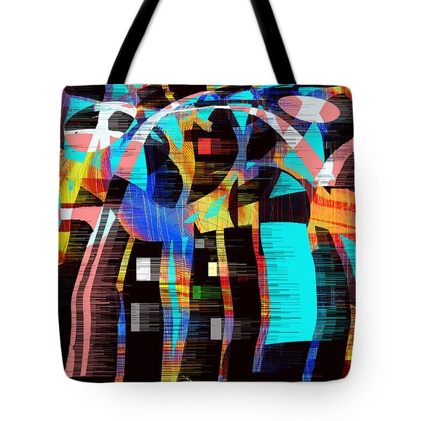 Tote Bag featuring the digital art Soul Searching by Yul Olaivar
