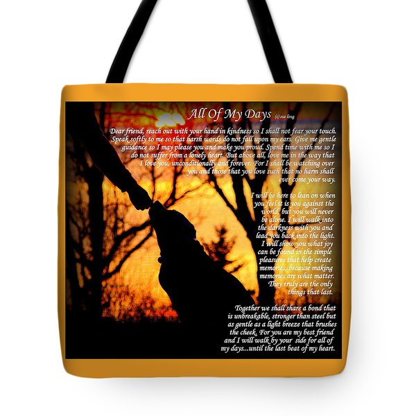 All Of My Days Version Three Tote Bag