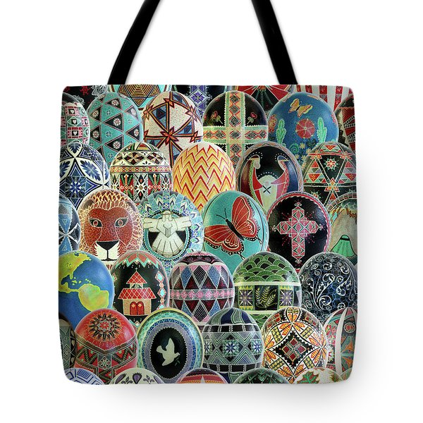 All Ostrich Eggs Collage Tote Bag