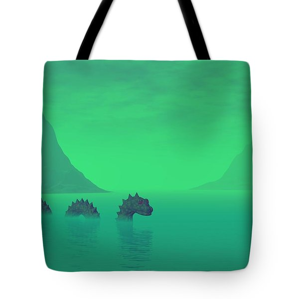 All Quiet In The Loch Tote Bag by Lyle Hatch