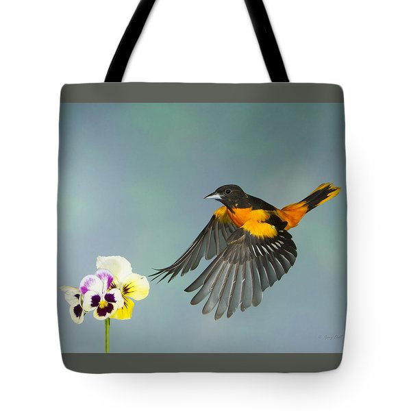 All Right Who Said Pansy Tote Bag