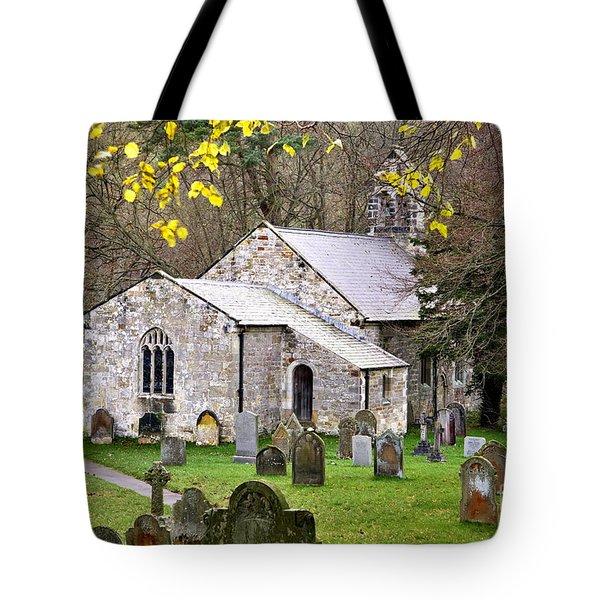 All Saints Church Hawnby Yorkshire Uk Tote Bag