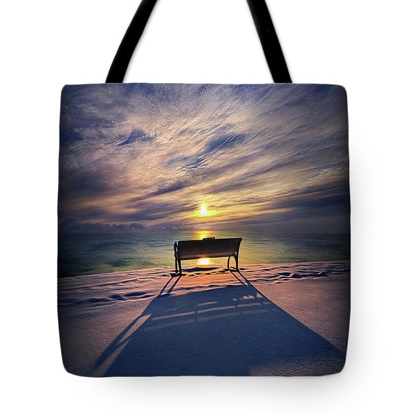 Tote Bag featuring the photograph All Shadows Chase Swift by Phil Koch