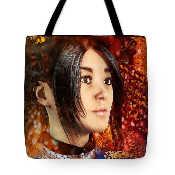 All Souls Day Saint Anna Wang Tote Bag by Suzanne Silvir