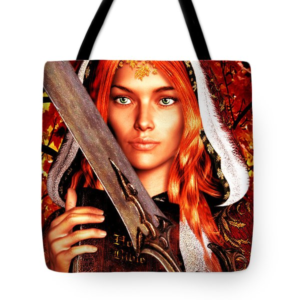 All Souls Day Saint Dymphna Tote Bag by Suzanne Silvir