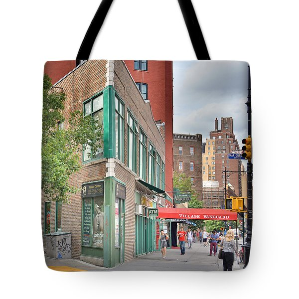 All That Jazz - Greenwich Village Vangaurd  Tote Bag by Jeffrey Friedkin