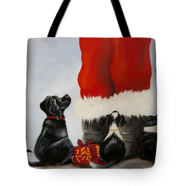 All The Fur Kids Love Santa Tote Bag