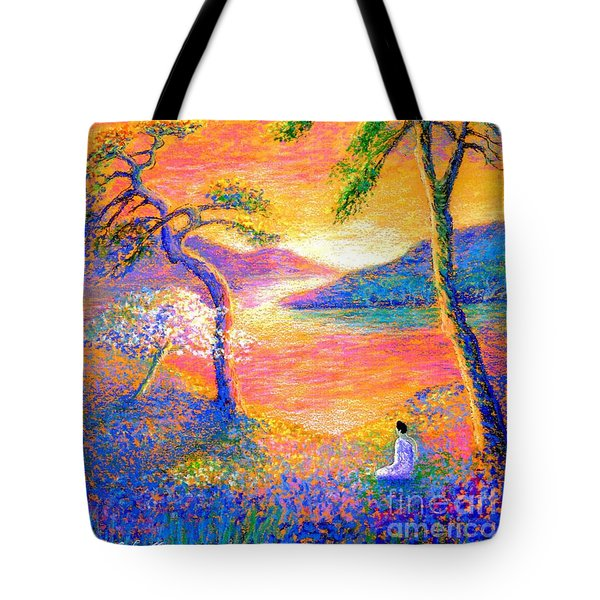 Buddha Meditation, All Things Bright And Beautiful Tote Bag by Jane Small