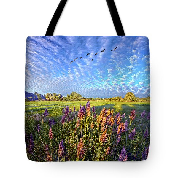 All Things Created And Held Together Tote Bag