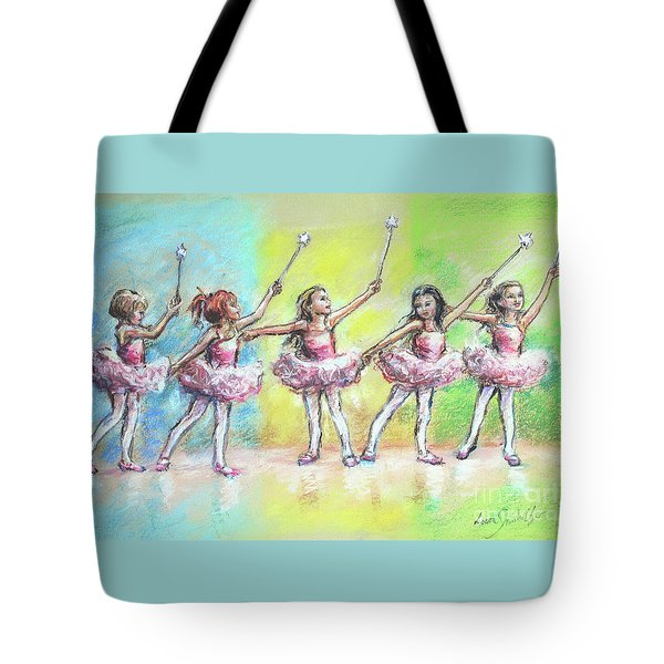 All Together Now...first Ballet Recital Tote Bag by Laurie Shanholtzer