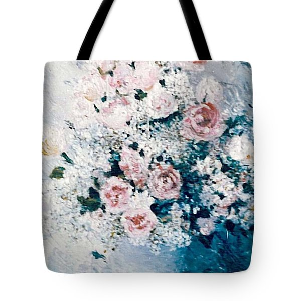 Tote Bag featuring the painting All White by Sorin Apostolescu