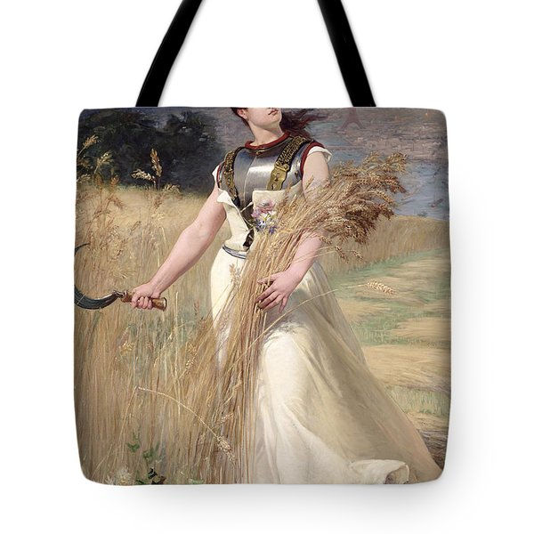 Allegory Of France Tote Bag by Georges Louis Poilleux Saint Ange