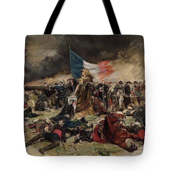 Allegory Of The Siege Of Paris Tote Bag by Jean Louis Ernest Meissonier