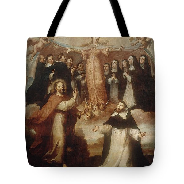 Allegory Of The Virgin Patroness Of The Dominicans Tote Bag