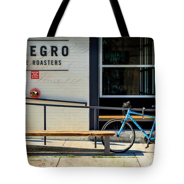 Tote Bag featuring the photograph Allegro Giant Bicycle by Craig J Satterlee