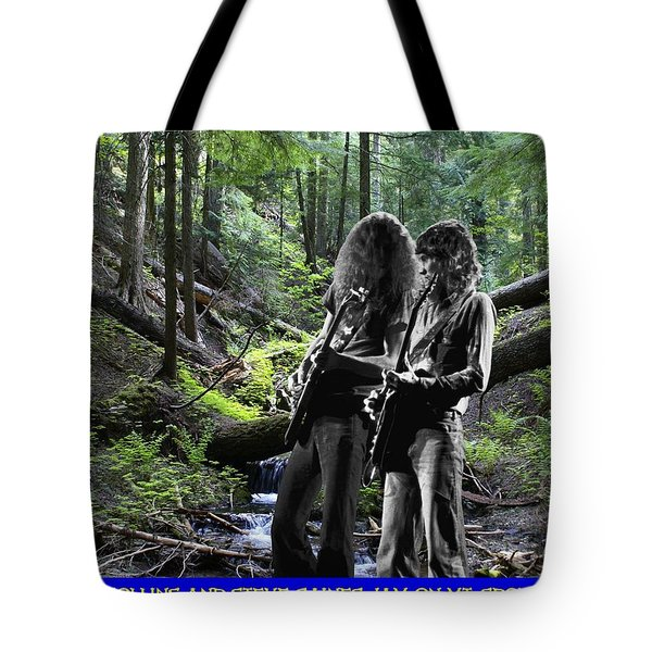 Tote Bag featuring the photograph Allen And Steve On Mt. Spokane by Ben Upham