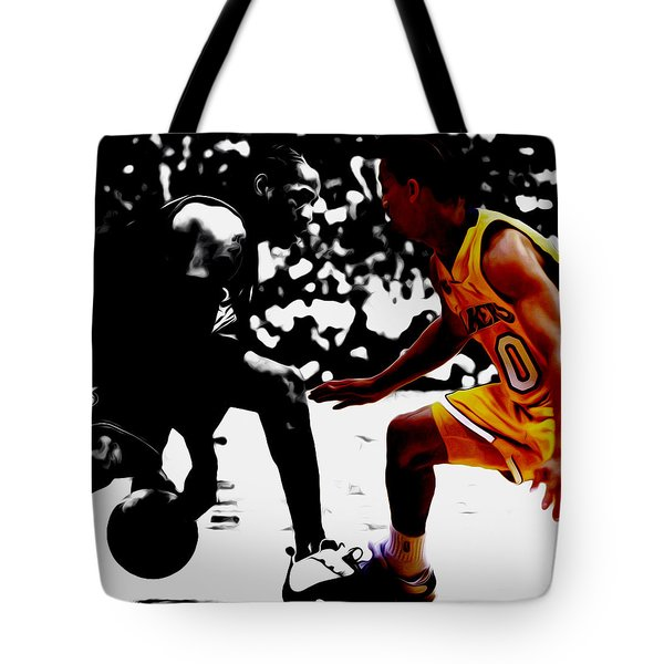Allen Iverson And Tyronn Lue Tote Bag