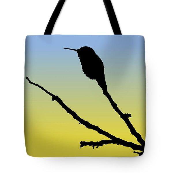 Allen's Hummingbird Silhouette At Sunrise Tote Bag