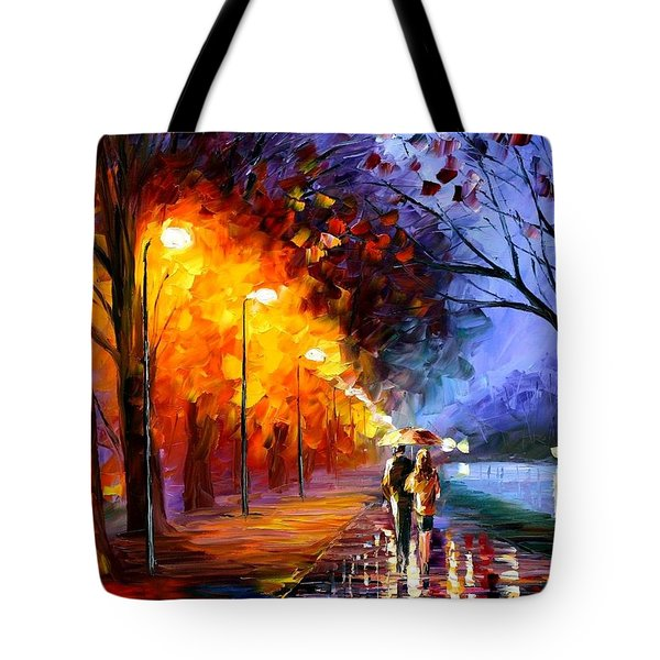 Alley By The Lake Tote Bag by Leonid Afremov