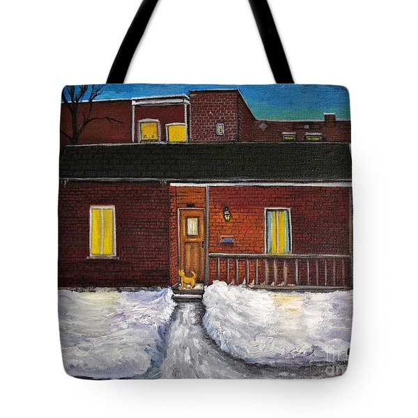 Alley Cat House Tote Bag