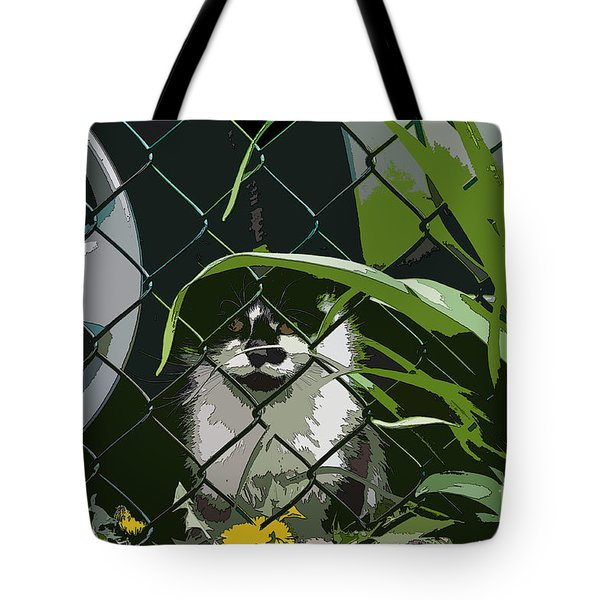 Alley Cat Tote Bag by Reb Frost