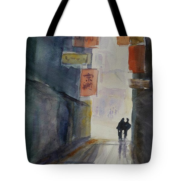 Alley In Chinatown Tote Bag