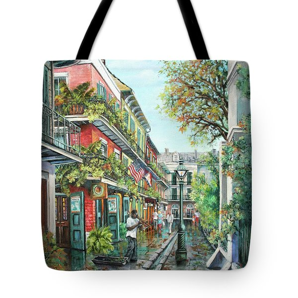 Alley Jazz Tote Bag by Dianne Parks