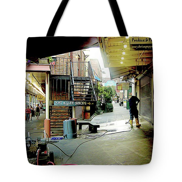Alley Market End Of Day Tote Bag