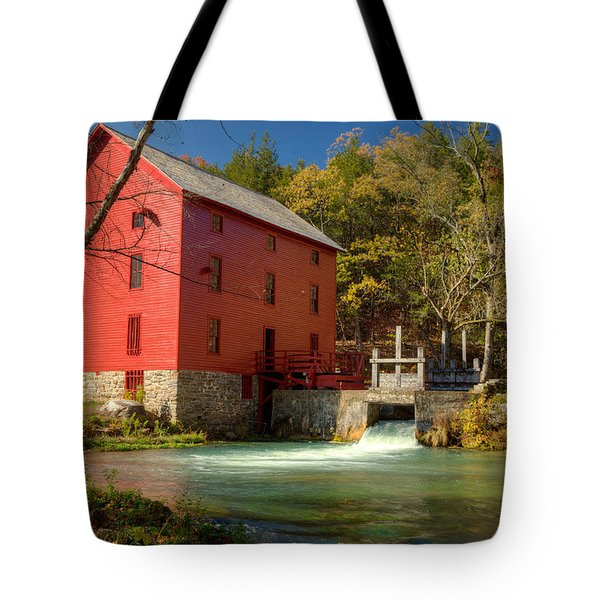 Tote Bag featuring the photograph Alley Mill by Harold Rau