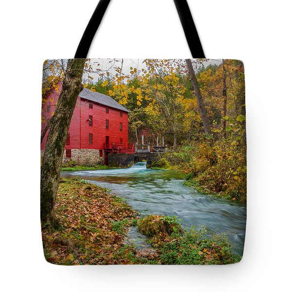 Alley Mill In Autumn Tote Bag