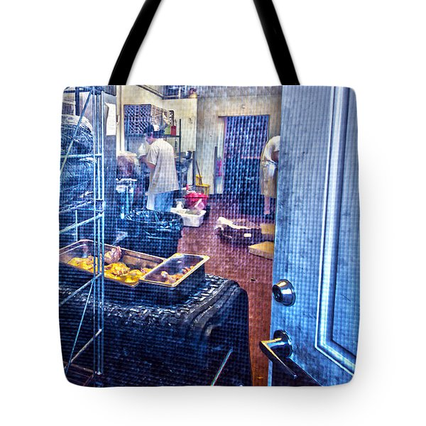 Alley Screen Door Tote Bag