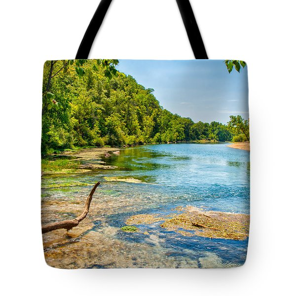 Tote Bag featuring the photograph Alley Springs Scenic Bend by John M Bailey