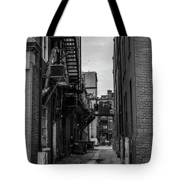 Tote Bag featuring the photograph Alleyway II by Break The Silhouette